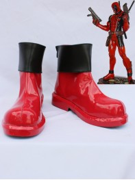 Deadpool Red & Black Short Cosplay Boots