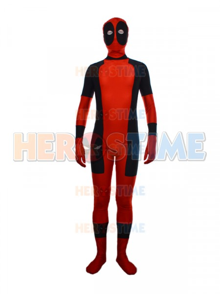 New Two-sides Red Classic Deadpool Superhero Costume