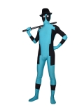 Sky Blue Marvel Comics Deadpool Superhero Costume