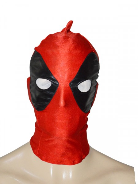 Black & Red Special Type Deadpool Spandex Hood