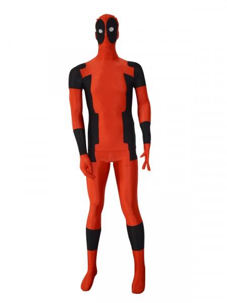 Two Piece Style Deadpool Superhero Costume