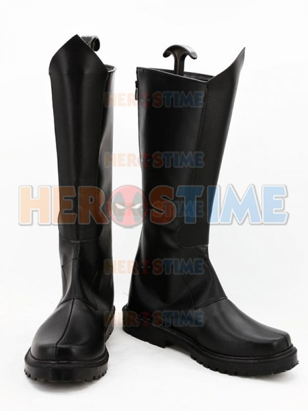 Fantastic Four Human Torch Black Superhero Boots
