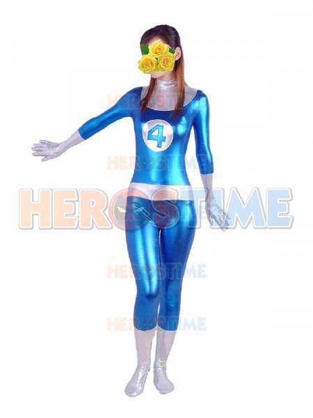 Disfraz de Sr. Fantástico de Cuatro Fantásticos de Metálico Brillante