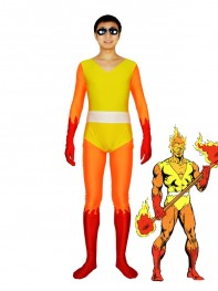 Marvel Comics Firelord Spandex Superhero Costume