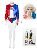 Suicide Squad Harley Quinn Deluxe Cosplay Full Set