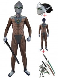Video Game Overwatch Genji Cosplay Full Set