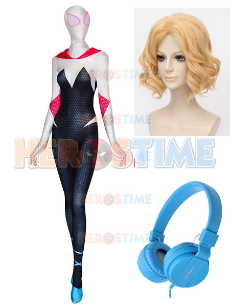 Gwen Stacy Cosplay Spider-Man Into the Spider-Verse Full Set