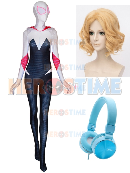 Spider-Man Into the Spider-Verse Gwen Stacy Cosplay Conjunto completo