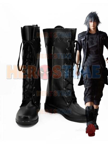 Final Fantasy XV  Botas Negras de Noctis Lucis Caelum Cosplay