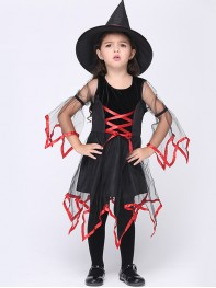 Baby Girl Halloween Witch Fancy Dress Party Costume