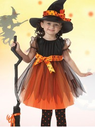Kids Halloween Costume Girls Witch Halloween Party Fancy Dress