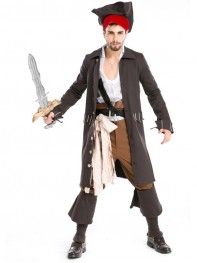 Adult Man Luxury Pirate Costume Halloween Fancy Dress