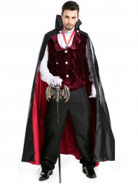 Adult Mens' Gothic Vampire Baron Halloween Costume Fancy Costume