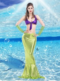 2017 Sexy Mermaid Womens Disney Princess Halloween Fancy Dress