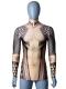 2018 Aquaman  Camisa de Aquaman de Tatuaje Cosplay