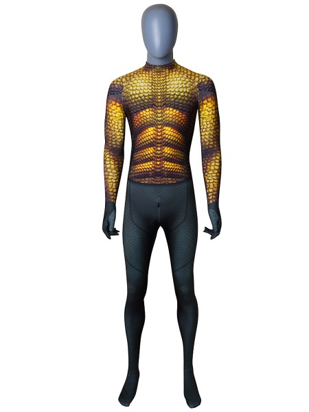 2018 Newest Aquaman Film Version Cosplay Costume