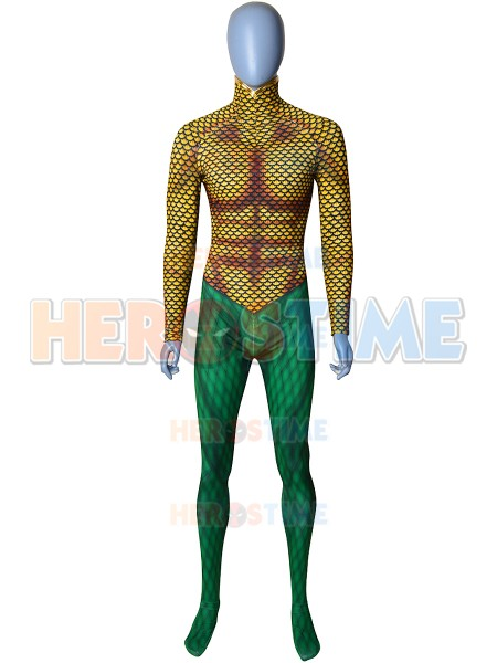 Classic Aquaman DC Comics Male Superhero Costume