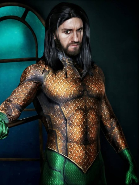 Traje Clásico de Aquaman Cosplay