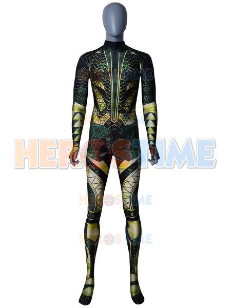 Liga de la Justicia Disfraz de Aquaman de Impresión Cosplay