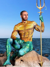 Newest Aquaman 2018 Film Version Aquaman Cosplay Costume