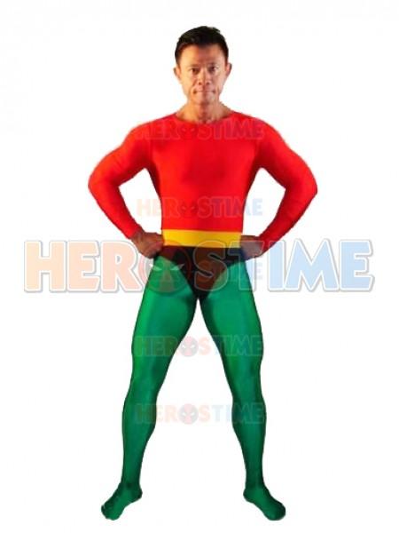 Rojo & Verde  Traje de Spandex de Aquaman
