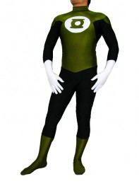 Army Green & Black Green Lantern Superhero Costume