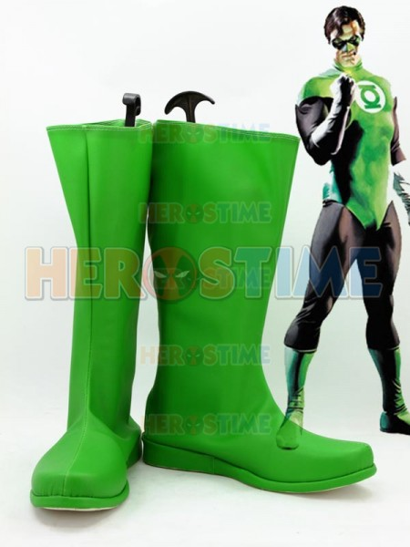 Green Lantern JLA Superhero Green Boots