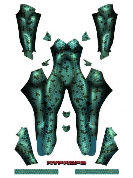 2018 Aquaman Traje de Mera Cosplay