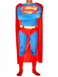Classic Design Superman Spandex/Lycra Superhero Costume