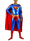 Classic Design Superman Metallic Superhero Costume