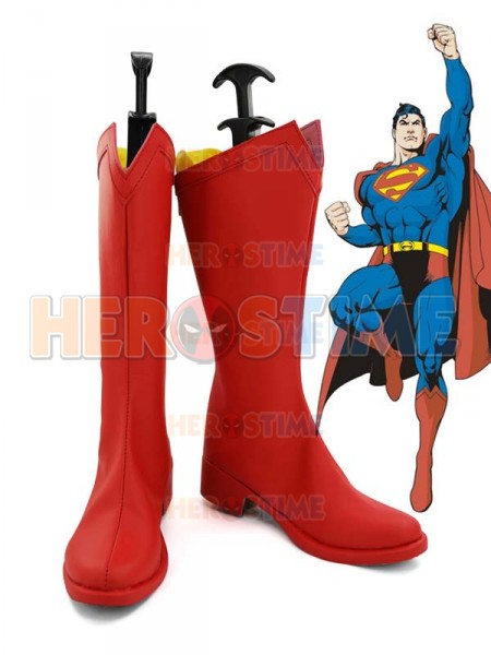 Classic Superman Red Superhero Boots