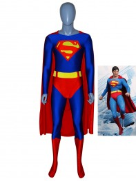 Red & Blue Superman Spandex/Lycra Superhero Costume