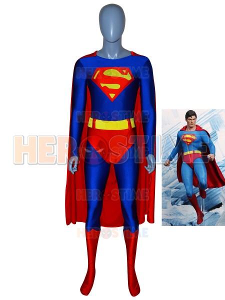 Traje Clásico de Spandex de Superman de color Rojo y Azul