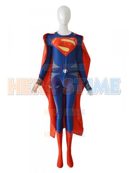 El Hombre de Acero  Traje Azul Oscuro y Rojo de Superman