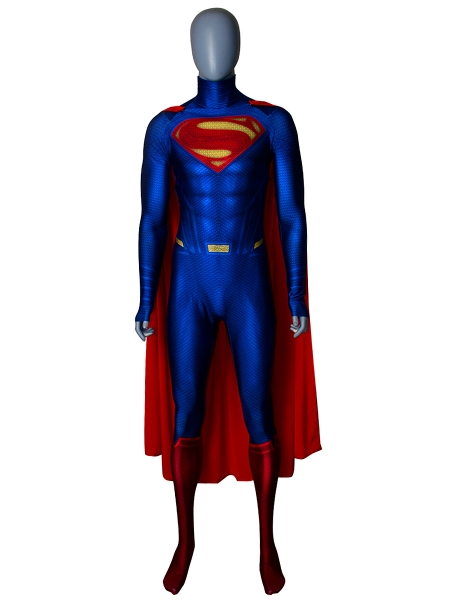 El Hombre de Acero  Traje de Superman con Capa Cosplay