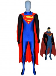 Superman Costume Red & Blue Spandex Superhero Costume