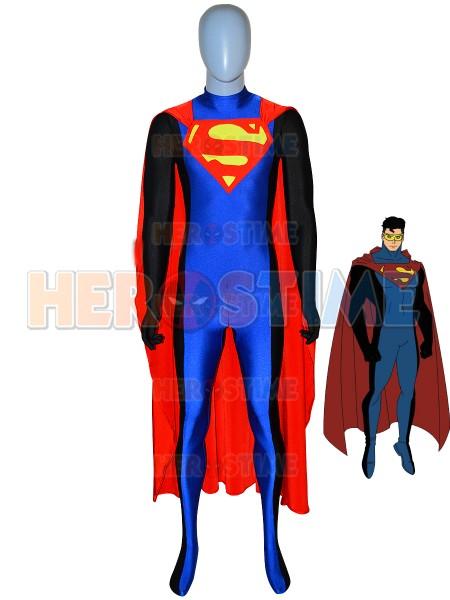 Traje de Spandex de Superman de color Rojo y Azul