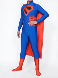 Red & Blue Spandex Superman Superhero Costume