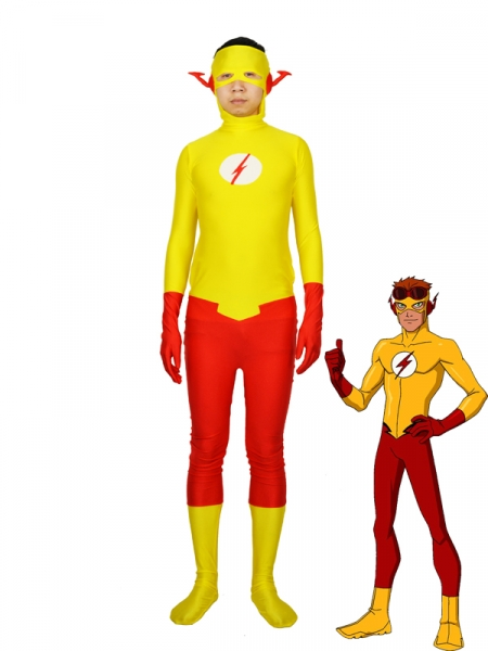 Traje de Spandex de Kid Flash de DC Comics