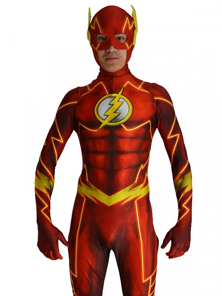 The New 52   Traje de Flash con 3D Sombra Cosplay