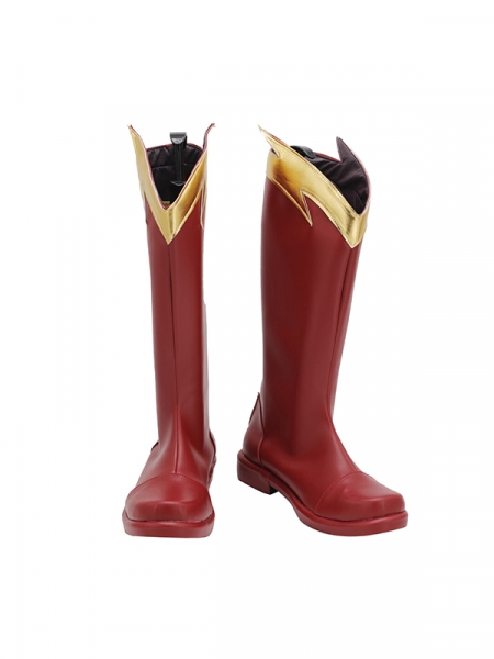 The Flash Season 4 Barry Allen Flash Cosplay Boots