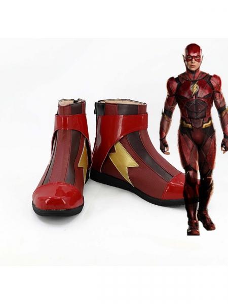 Botas de cosplay de superhéroe Flash
