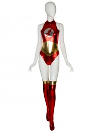 Sexy Flash Suit Metallic Superhero Costume