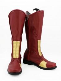 The Flash Custom Dark Red Superhero Cosplay Costume
