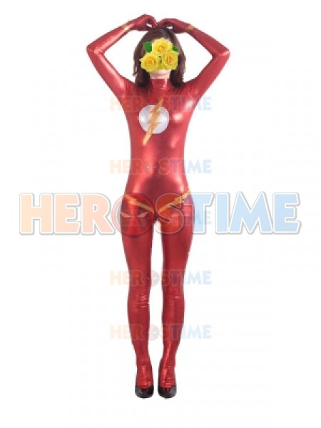 The Flash Red Metallic Superhero Costume