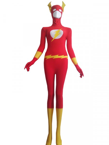 The Flash  Traje Rojo de Spandex de Flash