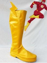 The Flash Superhero PU Cosplay Boots