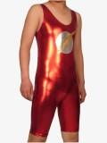 The Flash Red Metallic Unitard Style Superhero Costume