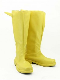 The Flash Yellow Superhero Cosplay Boots