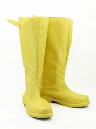 The Flash Yellow Superhero Cosplay Boots